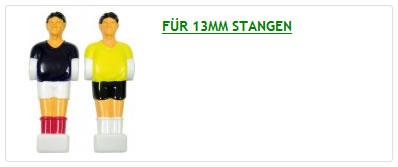 Kickerspielfiguren, Tischkicker Figuren 13 mm Stange
